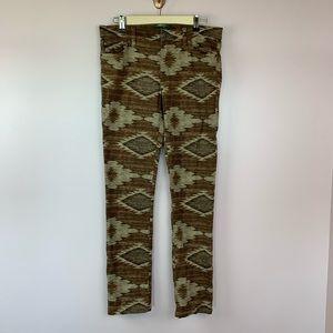 LRL Ralph Lauren Aztec Print Pants 8